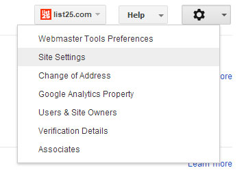 webmastersitesettings